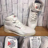 REEBOK Rare Vintage UK 11 80s Classic Originals Exofit Hi Top Trainers V58473