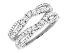 14k White Gold Solitaire Diamond Engagement Ring Enhancer Jacket Prong Set 1 Ct