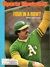 1975 10/6 Sports Illustrated magazine baseball, Reggie Jackson, Oakland A's VG