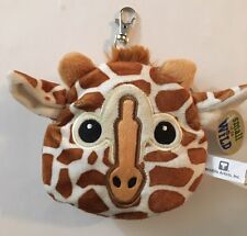 Giraffe Stuffed Animal Plush Pouch Purse Case Clip on Bag Zipper Wallet Bag