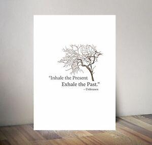 Poster Mindfulness  Inspirational Motivational - Hand designed A3 size