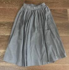 French Grey Yves Saint Laurent Rive Gauche Paris Long Circle Skirt Size 36