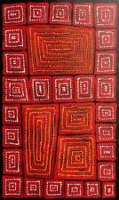 Adam Reid, Fire Dreaming, ORIGINAL Aboriginal Art 102x48cm w/ COA