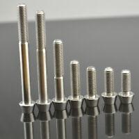 M6x 15 16 18 20 25 30 35 40 45 50 60 65mm Taper Hex Head Titanium Ti Bolt Screws