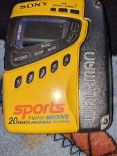 Sony Wm-Fs499 Sport Walkman Cassette Player Am/Fm Radio Untested