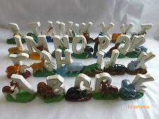 Wade  Various Wade Whimsie ALPHABET Letters - Animal Figures cheapest on ebay