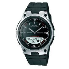 Casio AW-80-1AV Black Silver-Tone Digital Analog Sports Watch with Retail Box