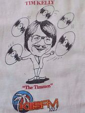 "VTG.TIM KELLY KISS FM 102.7 ""The Trimmer"" MADE IN USA ADULT MEDIUM RARE T- Shirt"