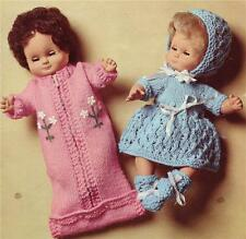 VINTAGE BABY DOLL / 8ply or DK - 12 inches - COPY doll knitting pattern