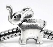 20 Perles Charm Éléphant pour Charm Bracelet 14x13mm