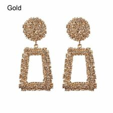 Fashion Gold Metal Big Dangle Earrings For Women Drop Earring Statement Jewelry
