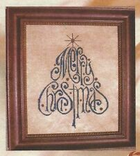 ELOQUENT CHRISTMAS--Merry Christmas Tree--Counted Cross Stitch Pattern