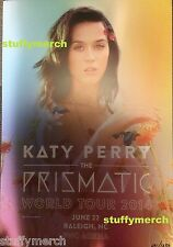 KATY PERRY RARE Prismatic Tour VIP Lithograph Poster Limited Raleigh NC 6/22 COA