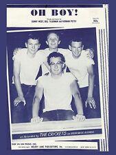"Buddy Holly Oh Boy 16"" x 12"" Photo Repro Sheet Music Poster"