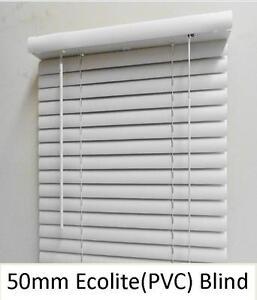 New 50mm PVC venetian blind ; Colour: White
