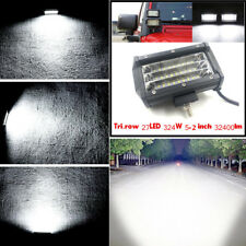 1x 324W 5.2'' LED Work Light Bar Pod Flood Beam Offroad Driving Fog Light Backup