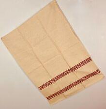 New Giaquinto Tessitura Dish Towel Red Ivory Jacquard Cotton Ostuni Scroll