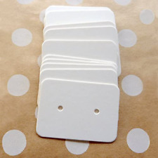200pcs White Earring Card Holder Paper Cards Accessories Display Rack Durable