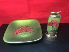 VINTAGE EVANS CHERRY BLOSSOM LIGHTER AND ASHTRAY