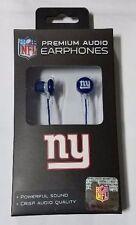 New York Giants iHip Premium Audio Earphones Earbuds - iPhone iPod NEW