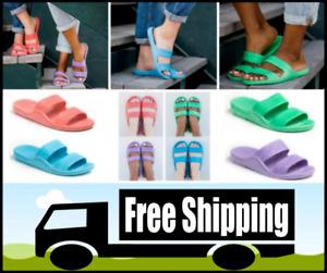 Pali Hawaii Sandals Slip On 2 Strap Womens Summer Beach Sandals (Sizes 5 - 11)