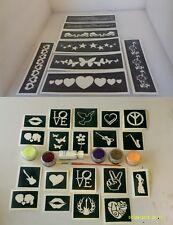 Festival themed glitter tattoo set inc stencils + glitter + glue Reading IOW