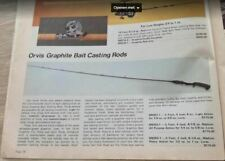Orvis graphite two piece baitcasting rod (1978) 6 ft 5 inch 1/4 - 1/2 OZ!
