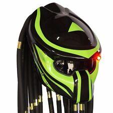 Custom Predator Helmet Open Face Green Bike Motorcycle Helmets Alien Mask Casco
