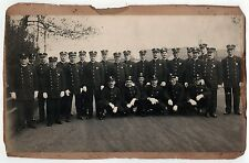 1900s FIREMEN Photograph PHOTO Original NEW ENGLAND Officers BADGES Mill Town