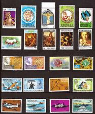 GRENADINES  timbres neufs : avions,sports,piété,divers 317T1