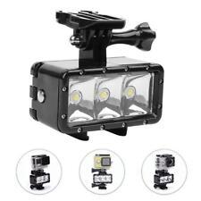 40m Wasserdicht 3LED Licht 300LM Flashlight Scheinwerfer 3W für Gopro Hero 7 6 5