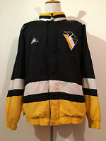 VINTAGE 1990's PITTSBURGH PENGUINS APEX ONE NHL HOCKEY JACKET MEN SIZE XL!