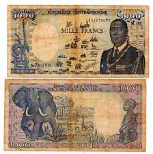 République Centrafricaine Billet 1000 Francs 1987 - 1989 Pr. Kolingba / ELEPHANT