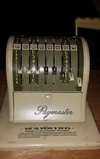 Vintage PayMaster Series S-1000 Check Writer Lock Protection With One Key