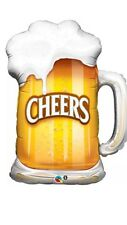 "35"" Cheers Beer Mug Glass CupSuper Shape Foil Balloon Qualatex Celebration Party"