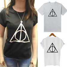 Womens Deathly Hallows Harry Potter T-Shirt Blouse Short Sleeve Casual Tee Tops