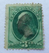 1870 USA 3 cent Green with Grill Stamp cancelled