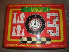 70'S ERKAP ROULETTE DOMINO CHESS VINTAGE GREEK GAME MIB