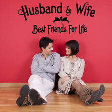 Husband&Wife Best Friend Love Quote Wall Decal Vinyl Art Sticker Home Decor