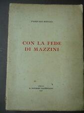Storia Pensiero Repubblicano Abruzzo Pescara Fede di Mazzini Ritucci 1955