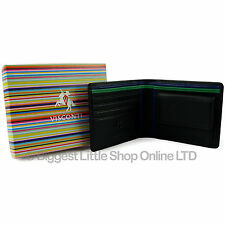 NEW Mens Top Quality LEATHER WALLET by VISCONTI Bond Collection Gift Box Change
