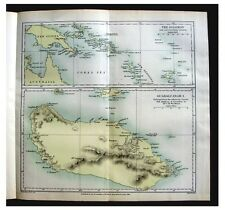 1888 Melanesia - DEADLY SOLOMON ISLAND - Head-Hunters - COLOR MAP - 6