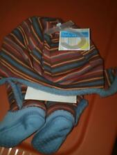 NWT INFANT TRAPPER HAT AND BOOTS WARM FLEECE LINED SIZE XS BOOTS SIZE 1