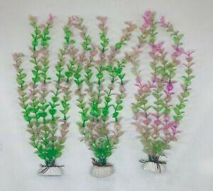 "(7 Pack) 12"" Artificial Aquarium Plant Plastic Decoration - Fast Shipping!"