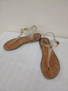 NWOB KATE SPADE NEW YORK Plastic/Cork Flat Women's Sandals,US Size10B