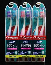 6x COLGATE 360 Enamel Health Sensitive Toothbrush EXTRA SOFT Made In SWITZERLAND