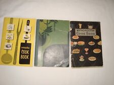 3  Antique ~VIntage Cookbooks   2 Metropolitan Silent Hostess Great Lot