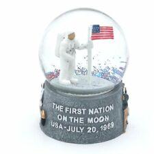 Snow Globe Moon Landing Apollo 11 US Flag Collectors Item - DPRC Decoration