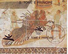 0433+ BLOC S.TOME E PRINCIPE J.O. BARCELONE 92 CHEVAUX