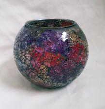 SALE ❀ڿڰۣ❀ LISBETH DAHL Handmade RAINBOW MIRRORED GLASS TEA LIGHT Candle HOLDER